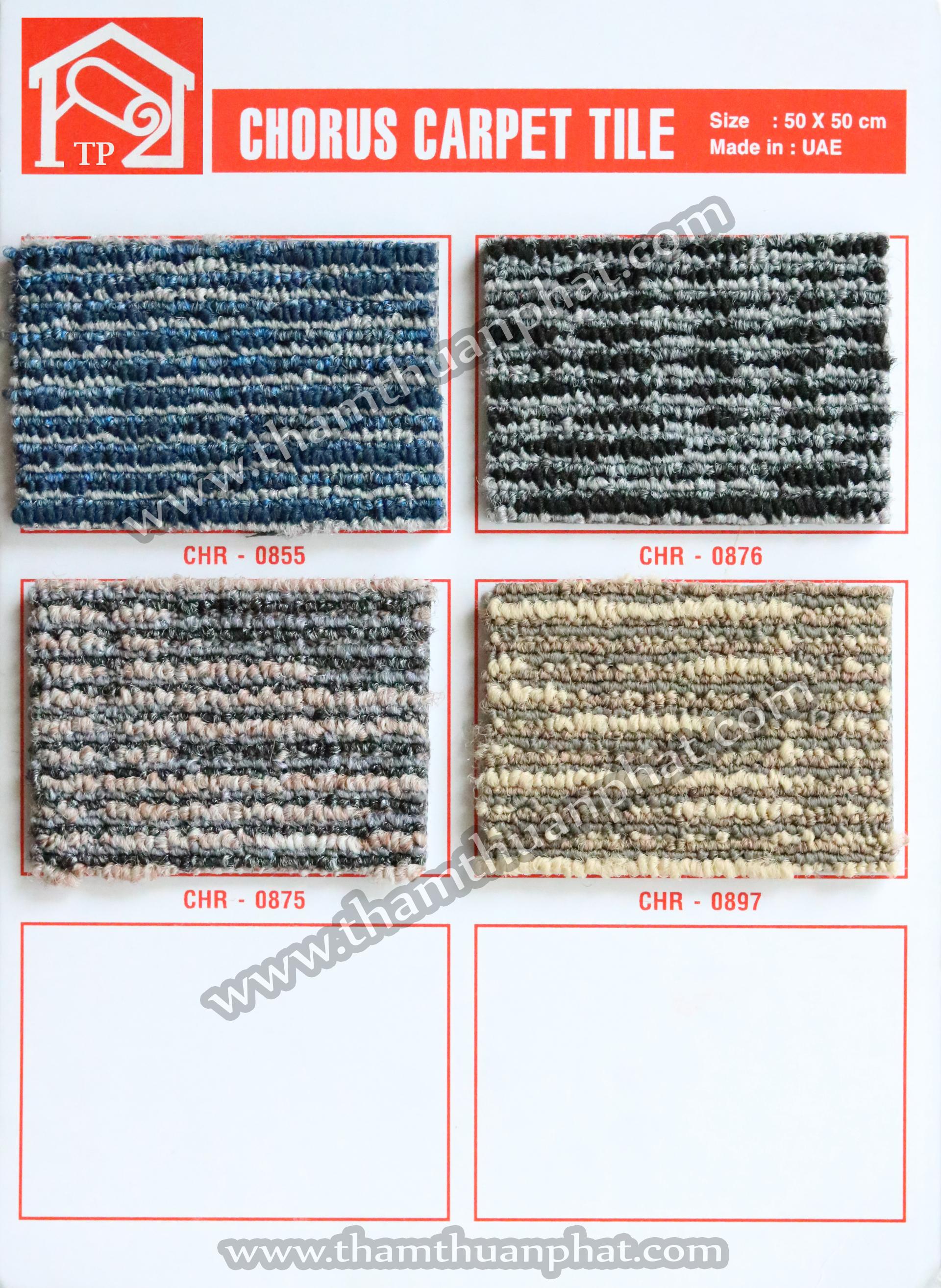 Thảm gạch - thảm tấm Chorus (50cmx50cm)